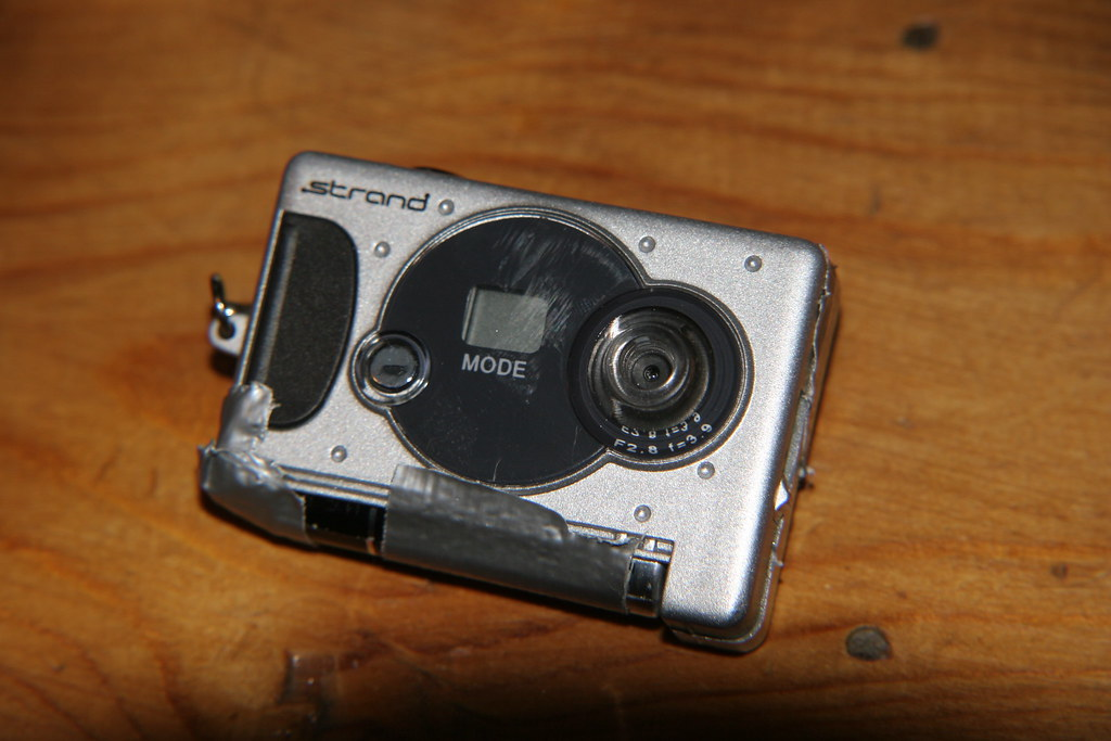 Hacked infra red mini camera