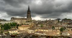 St-Emilion dark sky (Claude-Olivier Marti) Tags: sky france clouds village bordeaux loveit ciel nuage hdr gironde stemilion supershot francelandscapes seasunclouds thebestofday gnnenyisi