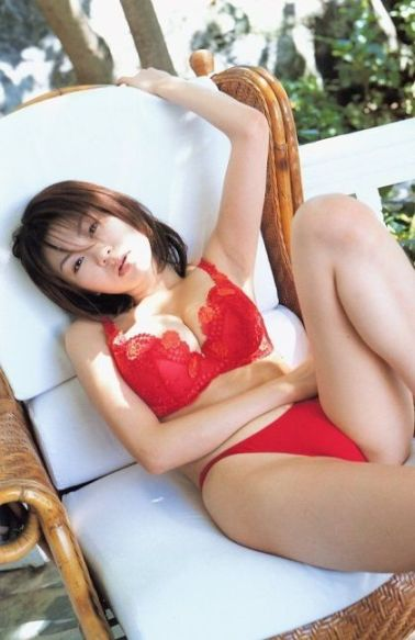 lingerie underwear red bra panties Asian