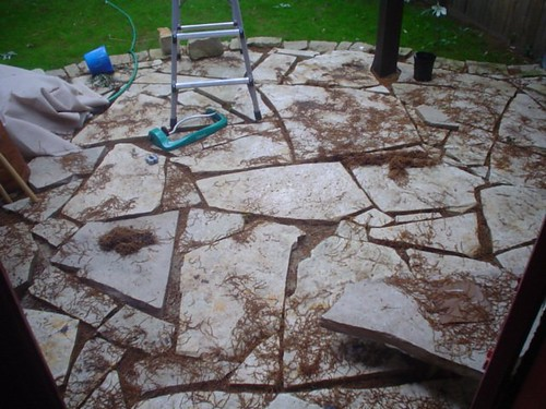 dirty flagstone