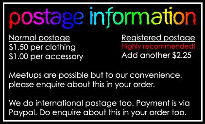 Postage info