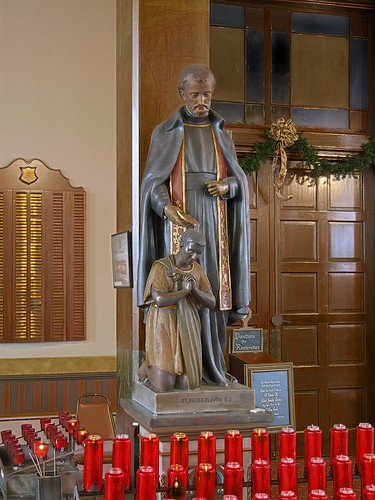 Saint Joseph Shrine, in Saint Louis, Missouri, USA - statue of Saint Peter Claver