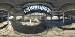 LightBox-NY :: 360 Panorama (Sam Rohn - 360 Photography) Tags: nyc newyorkcity windows panorama newyork architecture concrete interesting nikon industrial bronx interior skylight panoramic photograph d200 nikkor stitched 360x180 360 virtualtour locationscout equirectangular 105mmf28gfisheye sperical nylocations samrohn lightboxny