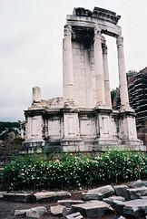 Forum Romanum (17) Aedes Vestae (pjink11) Tags: italy rome film temple europe forum 1998 vesta aedes