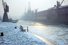Britol City Docks during the winter of 1962/63 (Steve Selwood) Tags: