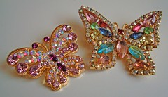 butterflies (gorgeoux) Tags: uk pink blue white green london vintage gold blog shiny crystals purple thing butterflies mauve swarovski favourite rhinestones sparkling translucid plated laurenlee cheezycheeky gorgeoux