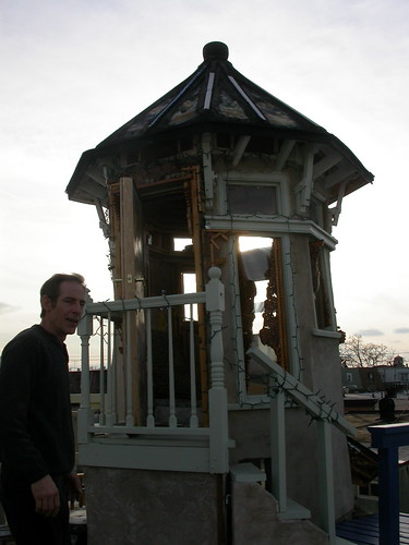 Scott Pellnat with his tower