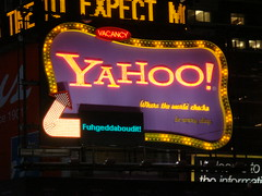 Yahoo Sign Times Square