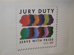 Loved this picture of a stamp in the jury assembly room. (03/04/2008)
