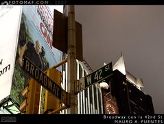 Broadway con la 42sd