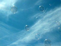 Sky, Soap Bubbles (esinuhe69) Tags: blue sky cloud clouds reflex soap nuvole nuvola air bubbles cielo tuscany di bubble toscana azzurro riflessi aria celestial celeste riflesso bolle sapone cubism anawesomeshot theunforgettablepictures excapture thebestpicturegallery esinuhe69