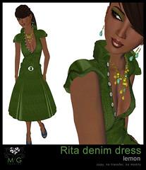 [MG fashion] Rita denim dress (lemon)