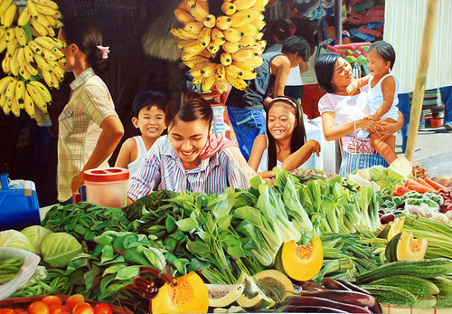 MARKET SCENE PAINTING street vendor Philippines Pinoy Filipino Pilipino Buhay  people pictures photos life Philippinen    special espesyal palengke