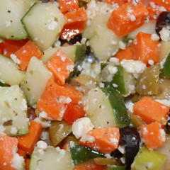 Greek Cucumber, Carrot & Olives Salad