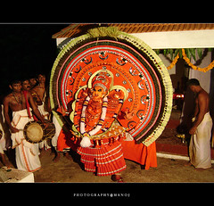 Oh....my god!! (Manoj Aswathi's Travel& Photography.) Tags: red people temple god performance kerala keralam malabar performingart godsowncountry theyyam kasargode kanhangad photographymanoj manojphotography theyyamperformance