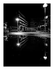 blackunleashed (seba0815) Tags: ricohgrdiv grdiv monochrome streetphotography street streetlight light dark darkphotography night nightfoto reflection water puddle urban city mallorca island deserted mood walk sky bw blackwhite black white blanco nero blanc noir schwarzweis czarnobiale seba0815 emptiness melancholy