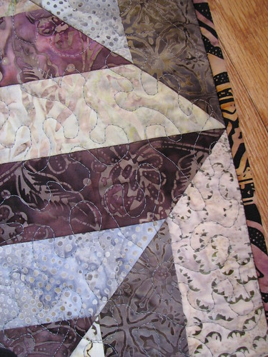 piecing closeup