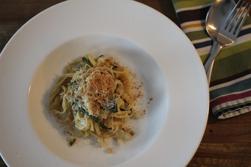 Fettuccine with Ramps