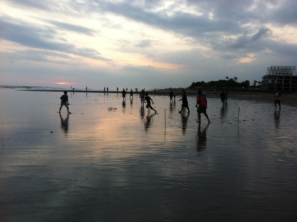 Late afternoon football game, Berawa Beach, Canggu, Bali