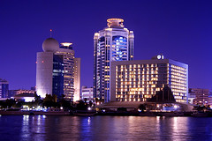 Dubai Creek (Curlylocks) Tags: blue building architecture creek dubai uae middleeast unitedarabemirates diera