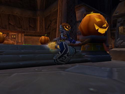 Idunna wears a Jack O'Lantern head from Flickr