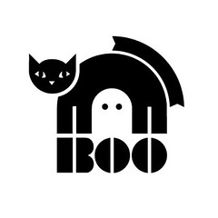 Spook'd (k.james) Tags: halloween illustration blackcat logo graphicdesign no treats ghost boo spooky tricks only vector razors eps kenthenderson popcornballs halloweenart candycornthings