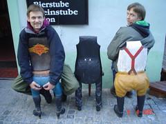 Butt chairs (tessahays) Tags: chair 2guys eskykrumlov