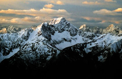 Outram Sunrise (justb) Tags: park light mountain snow mountains clouds sunrise print landscape golden scenery bc snowy scan mount fujifilm manning provincial mountainscape manningpark outram anawesomeshot