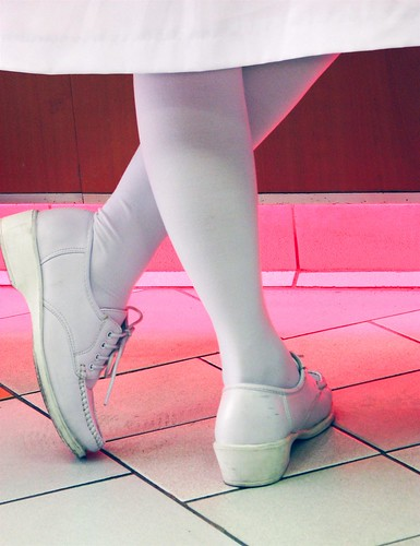 stockings shoes nurse