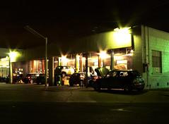 mini cooper garage (dogwelder) Tags: california cars night garage minicooper zurbulon6 northhollywood zurbulon gatturphy