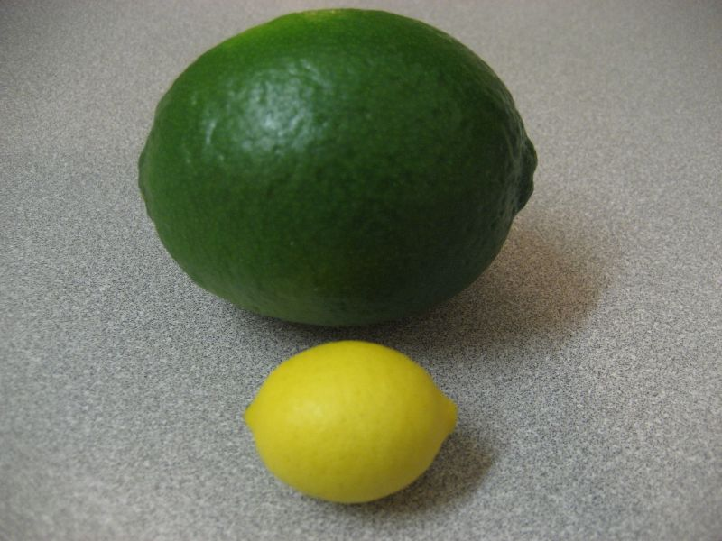 tiny lemon with lime