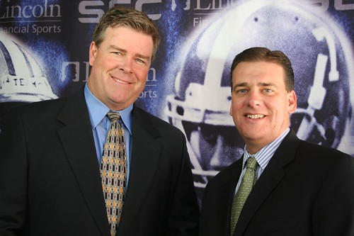 Former NFL Quarterback Dave Archer (left) and Dave Neal of Lincoln Financial Sports