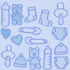 GIF azul beb (super_ziper) Tags: blue baby azul tile diy pattern handmade background crafts craft super bebe gif bg ziper padrao superziper