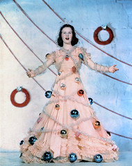 deanna durbin tree dress (carbonated) Tags: christmas xmas ladies tree vintage ornaments tinsel celebrities xmastree holidaypinup