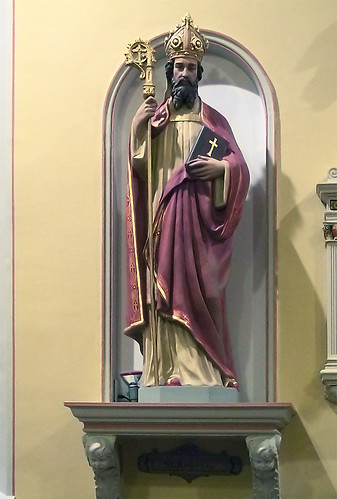 Saint Ambrose Church, in Saint Louis, Missouri - statue of Saint Ambrose.jpg