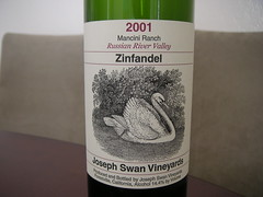 2001 Joseph Swan Vineyards Mancini Ranch Zinfandel
