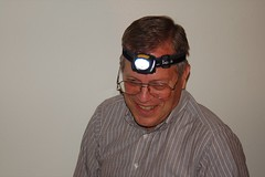 A guy wearing a headlamp. Need I say more?