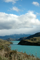 Torres del Paine - Chile (Marjan de B) Tags: chile travel blue vacation lake mountains southamerica water clouds scenery windy torresdelpaine 2007 torres deblaauwpix