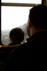 out the window of the incline