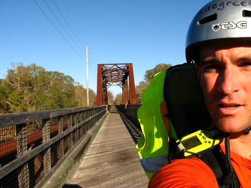 Crossing the Suwannee River bridge near Old Town, Florida, USA