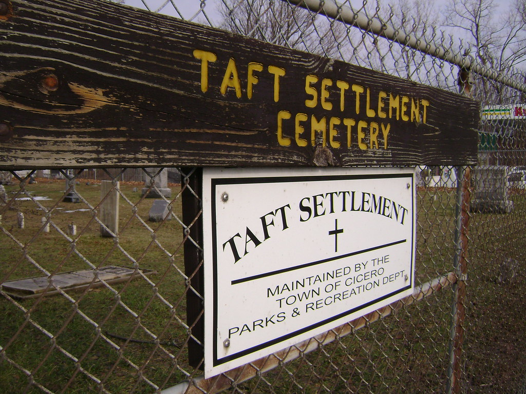 Taft Settlement Cemetery in North Syracuse, NY