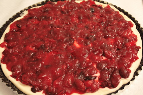 Cranberry Chocolate tarte