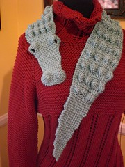 """Crikey!"" ~ complete (No Knit Sherlock!) Tags: scarf knitting alligator handknit farms redheart seafoamgreen madeinusa morehouse babyscarf"