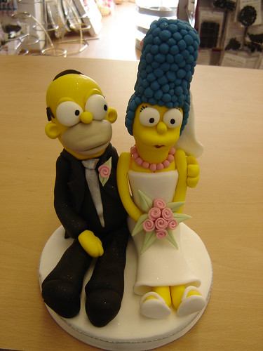 homer and marge wedding cake topper homer and marge wedding cake topper custom wedding cake 15307