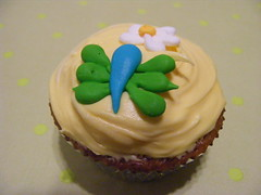 green butterfly (christylacy) Tags: blue flower green butterfly cupcake icing royalicing christylacy