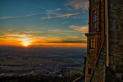 Sunset at Burg Hohenzollern