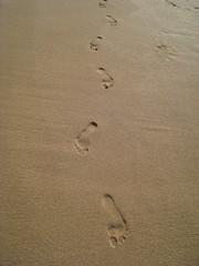 my footprints in the sand (ckubitsky) Tags: beach hawaii northshore kauai haenastatepark