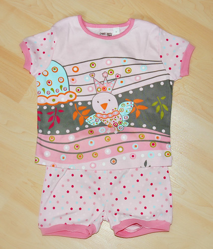 Petit Lem Toddler Clothes - Pink Polka Dot PJ's by mommyknows