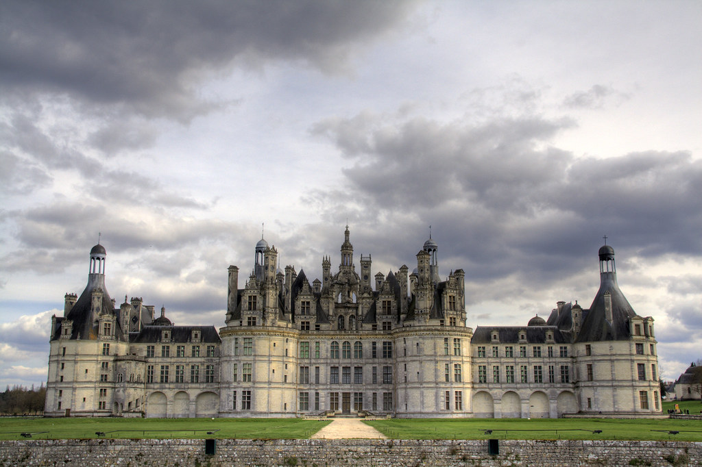 The beautiful castle of Chambord, Loire Valley, France. <br /><br /><br /><br />Largest castle of the Loire valley, it was built by the king François 1er between 1519 and 1547.