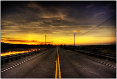 Race to the Weekend (Extra Medium) Tags: road sunset clouds vanishingpoint scenery sacramento hdr sutterbuttes trip3 abigfave